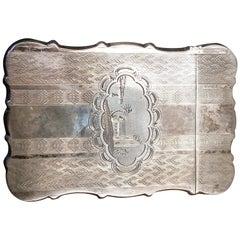 Sterling Silver Card Case, circa 1860
