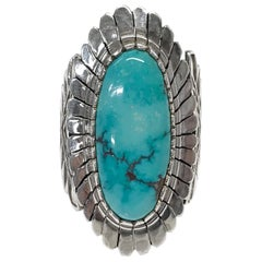 Sterling Silver Carico Lake Turquoise Ring