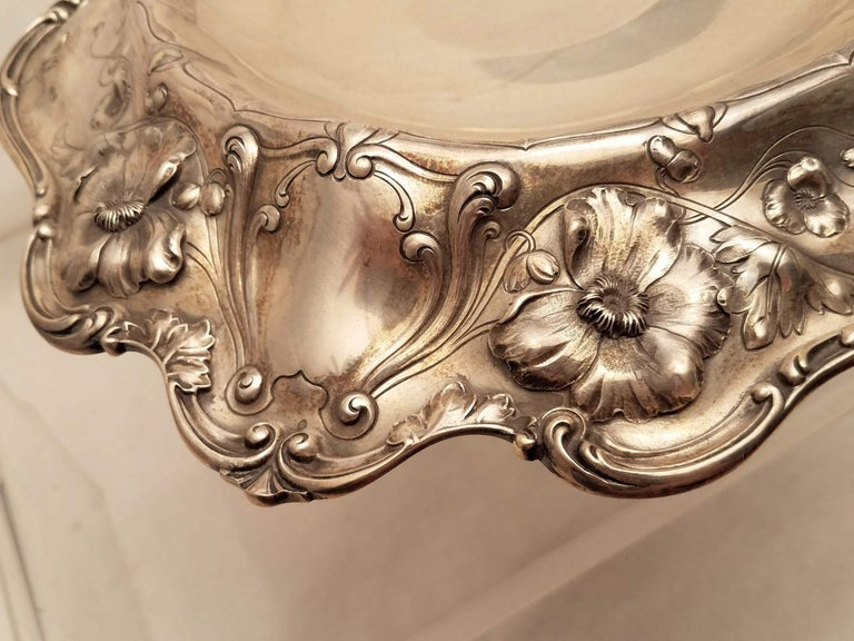 Sterling Silver Centerpiece by Reed & Barton in Art Nouveau Style In Good Condition For Sale In New York, NY