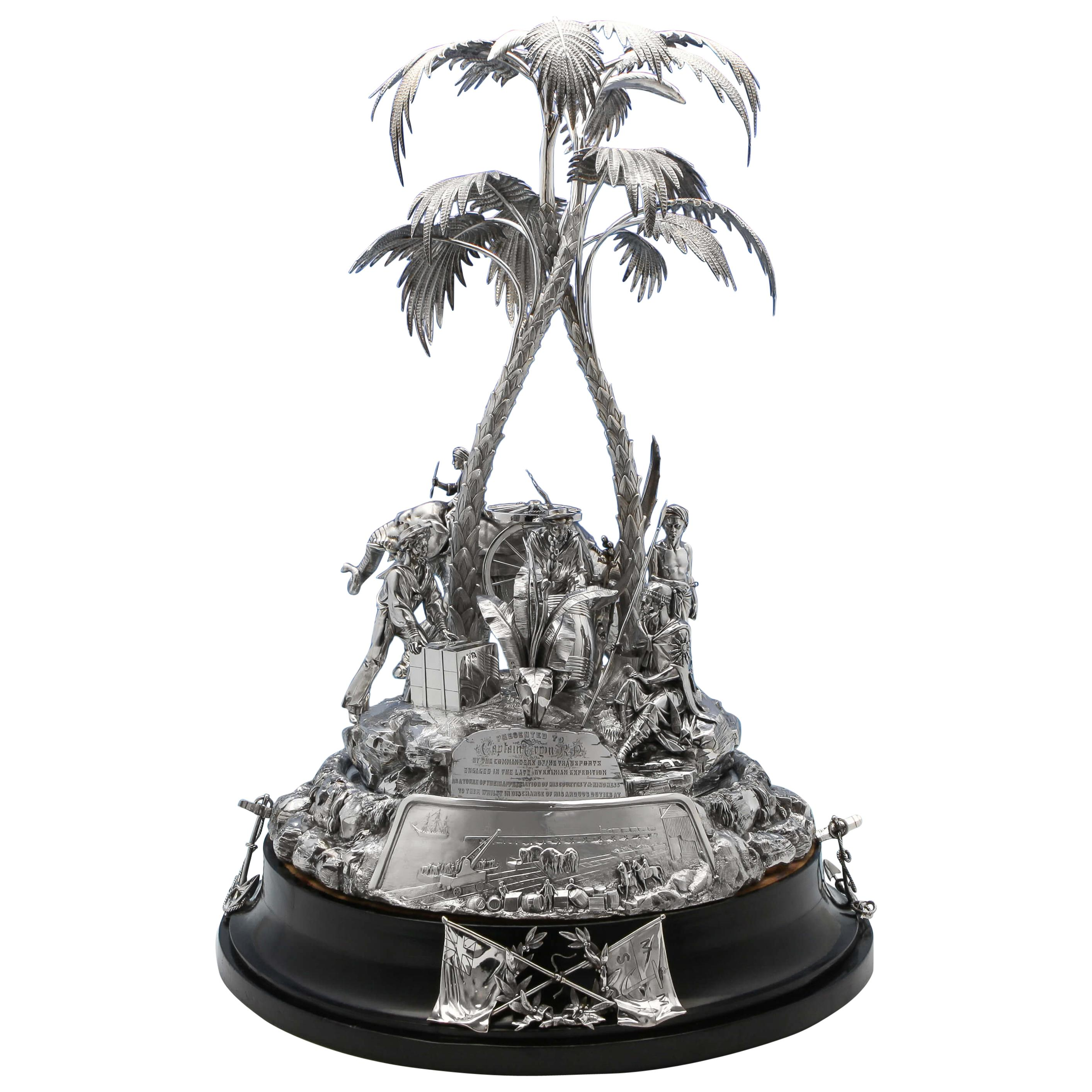 Admiral Tryons Antique Sterling Silver Centrepiece made by Elkington & Co.
