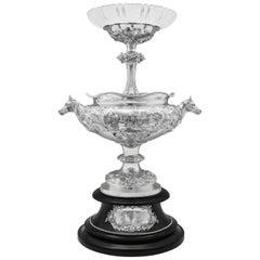 'The Warwick Cup' Antique Sterling Silver Horse Racing Centrepiece from 1876
