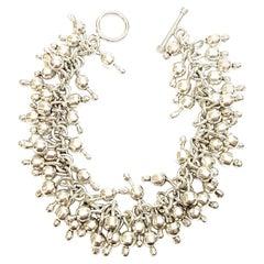 Sterling Silver Cha-Cha Fringe Bead Bracelet