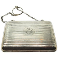Sterling Silver Change Purse, Mid-20th Century