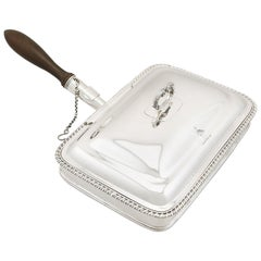 Sterling Silver Cheese Toaster Dish, Antique George IV