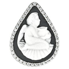 Sterling Silver Cherub with Amphora Cameo Ring