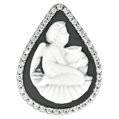 Sterling Silver Cherub with Amphora Jasperware Cameo Ring