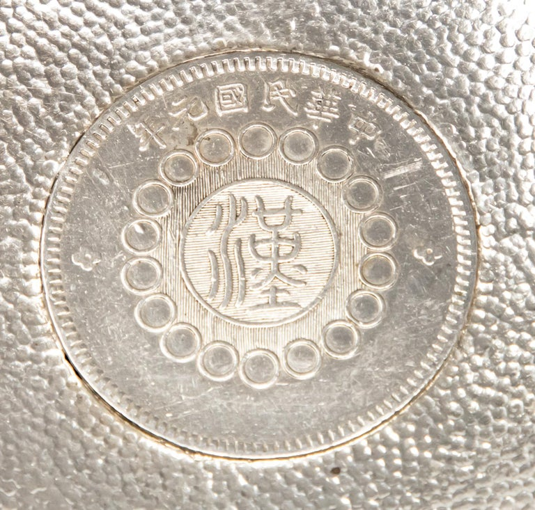 Other Sterling Silver Chinese Coin Dish For Sale