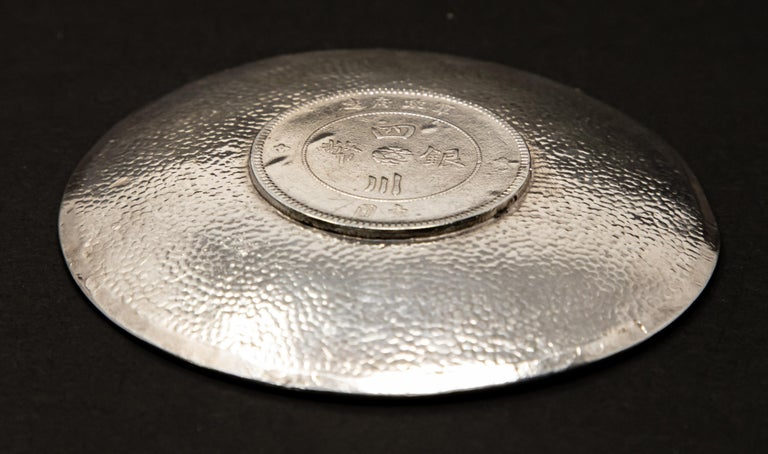 Sterling Silver Chinese Coin Dish For Sale 1