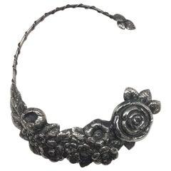 Sterling Silver, Choker, Rose, Handmade, Italy