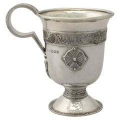 Sterling Silver Christening Mug by Asprey & Co. Ltd. in Lindisfarne Style