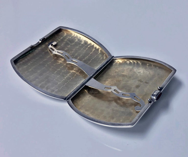 Sterling Silver Cigarette or Card Case, American, circa 1920 In Good Condition For Sale In Toronto, ON