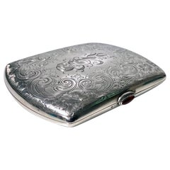 Sterling Silver Cigarette or Card Case, American, circa 1920