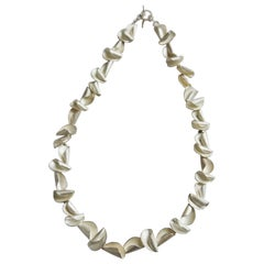 """Sterling Silver Cluster """"Curly Shell"""" Choker Necklace, Kayo Saito"""
