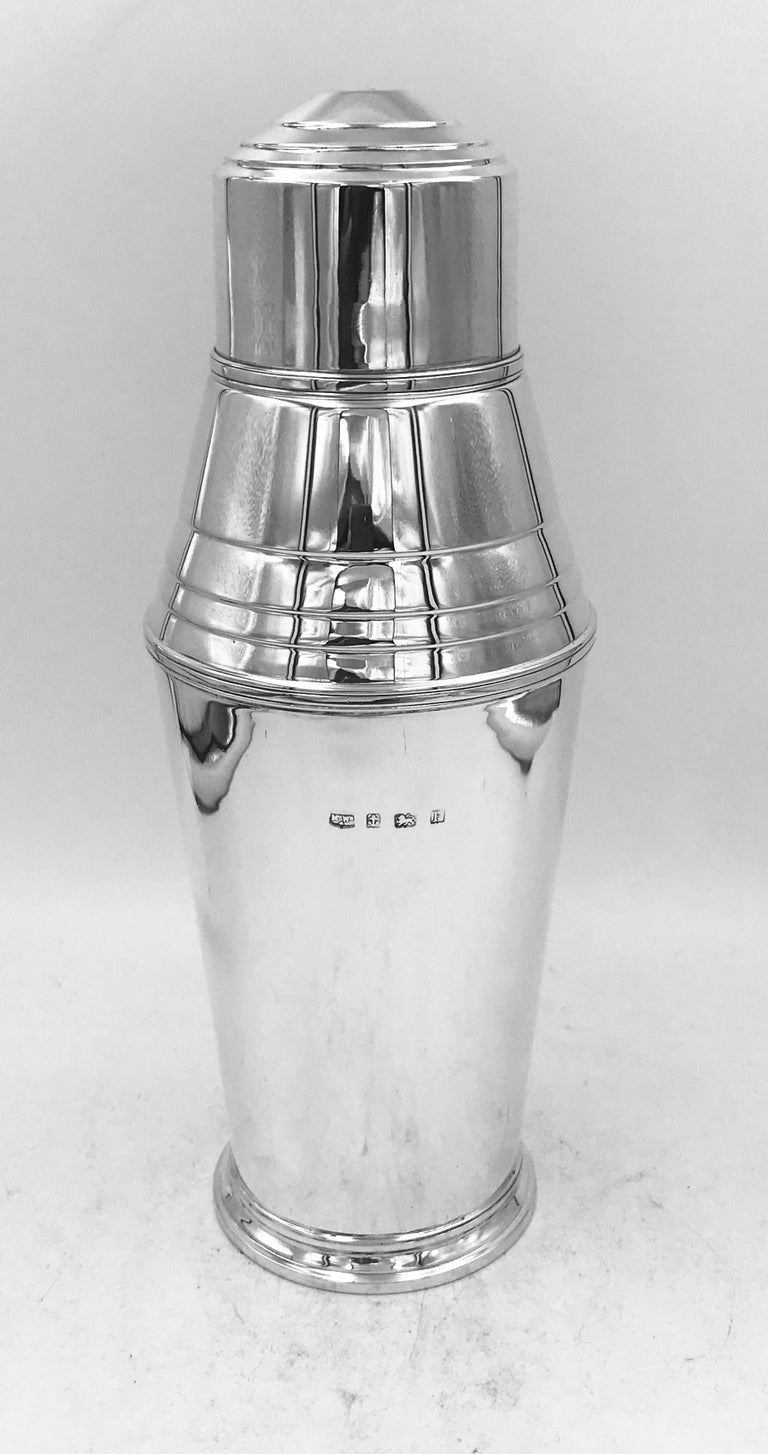Sterling Silver Cocktail Shaker For Sale 1