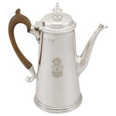 Sterling Silver Coffee Pot, Antique George II '1729'