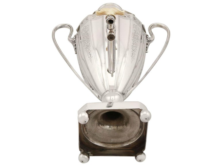 Sterling Silver Coffee Urn Antique George III, 1786 For Sale 15