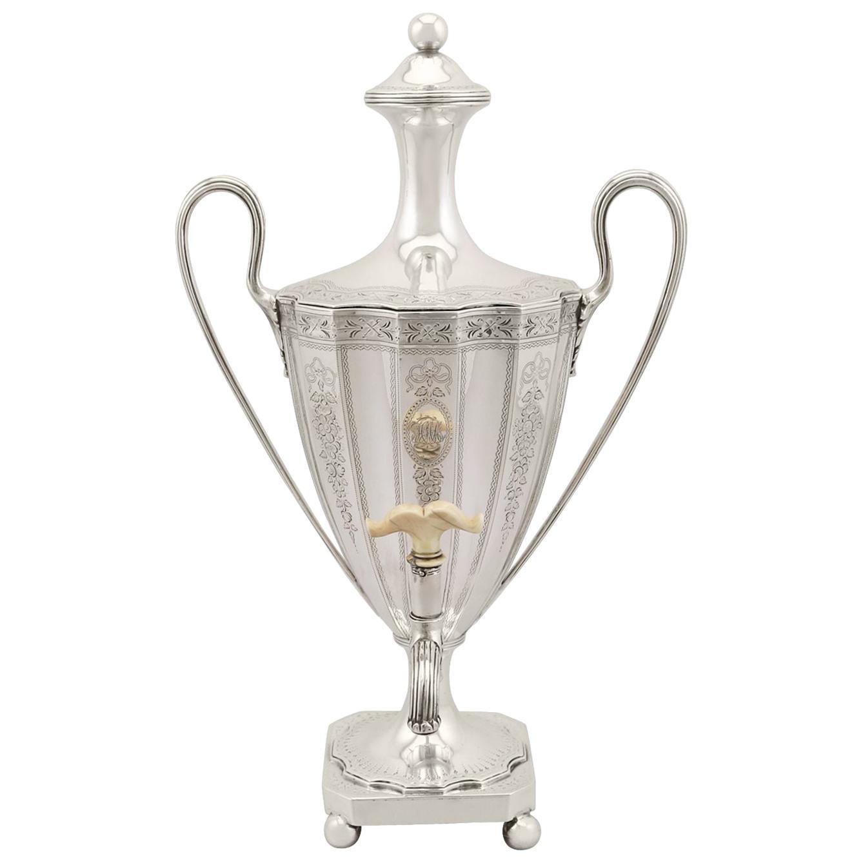 Sterling Silver Coffee Urn Antique George III, 1786