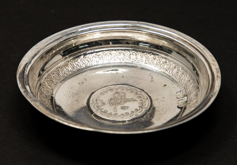 Turkish Sterling Silver Coin Dish For Sale