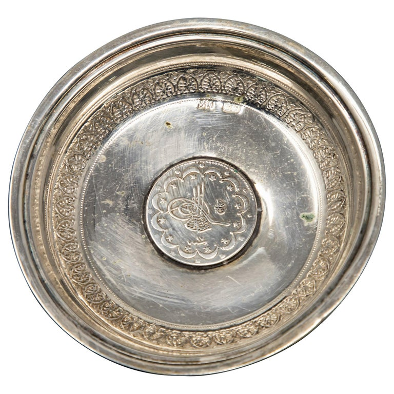 Sterling Silver Coin Dish For Sale