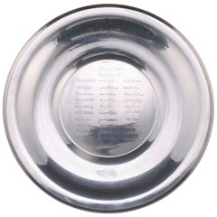 Sterling Silver Commencement Plate, Class of 1942, circa 1957