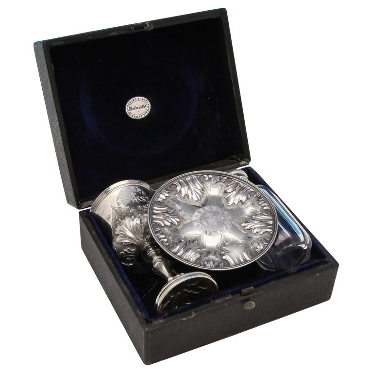 Sterling Silver Communion Set For Sale