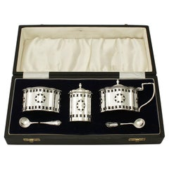 Sterling Silver Condiment Set by A Chick & Sons Ltd