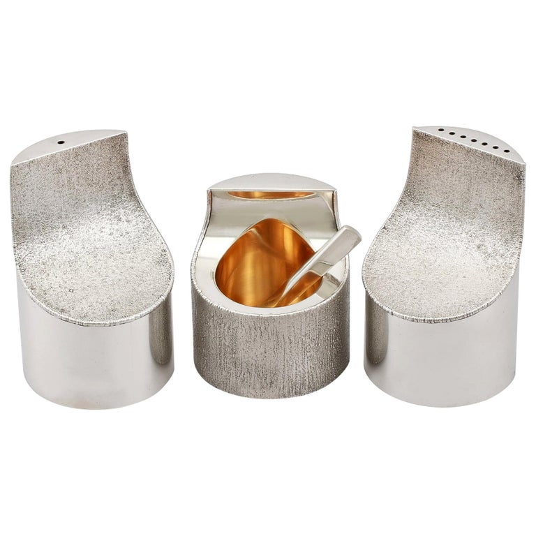 Sterling Silver Condiment Set For Sale