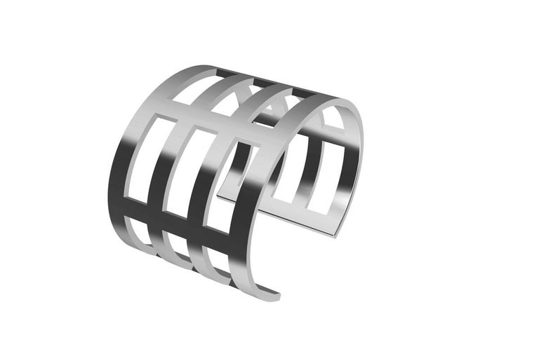 Sterling Silver Cuff Bracelet In New Condition For Sale In New York, NY