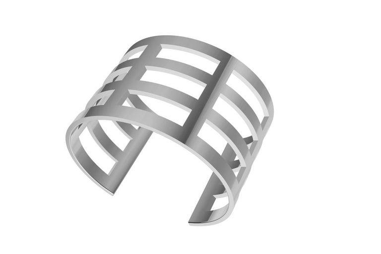 Sterling Silver Cuff Bracelet For Sale 1
