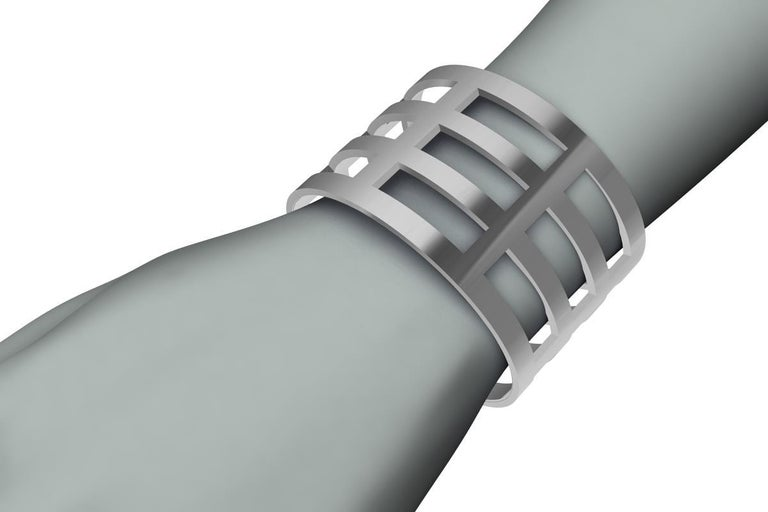 Sterling Silver Cuff Bracelet For Sale 2
