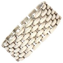 Sterling Silver Cuff Link Bracelet