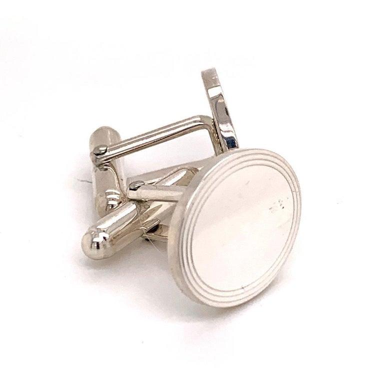 Men's Sterling Silver Cufflinks by Tiffany & Co. 6.40 Grams TIF11