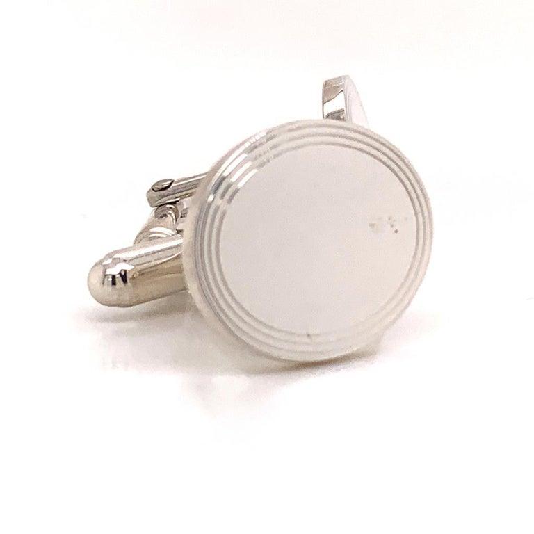 Sterling Silver Cufflinks by Tiffany & Co. 6.40 Grams TIF11 1