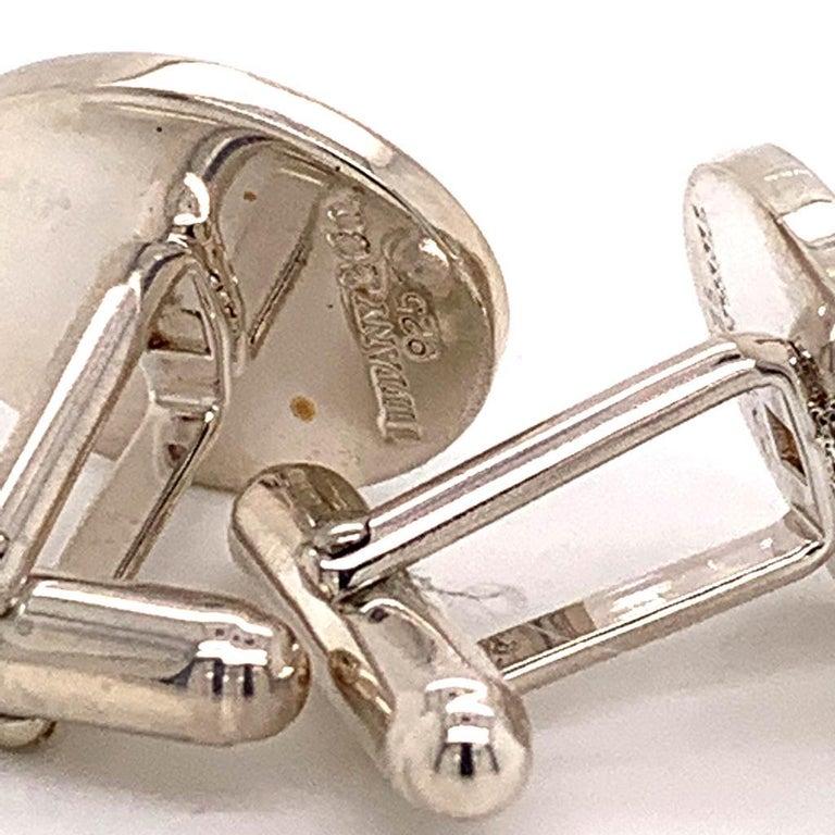 Sterling Silver Cufflinks by Tiffany & Co. 6.40 Grams TIF11 2