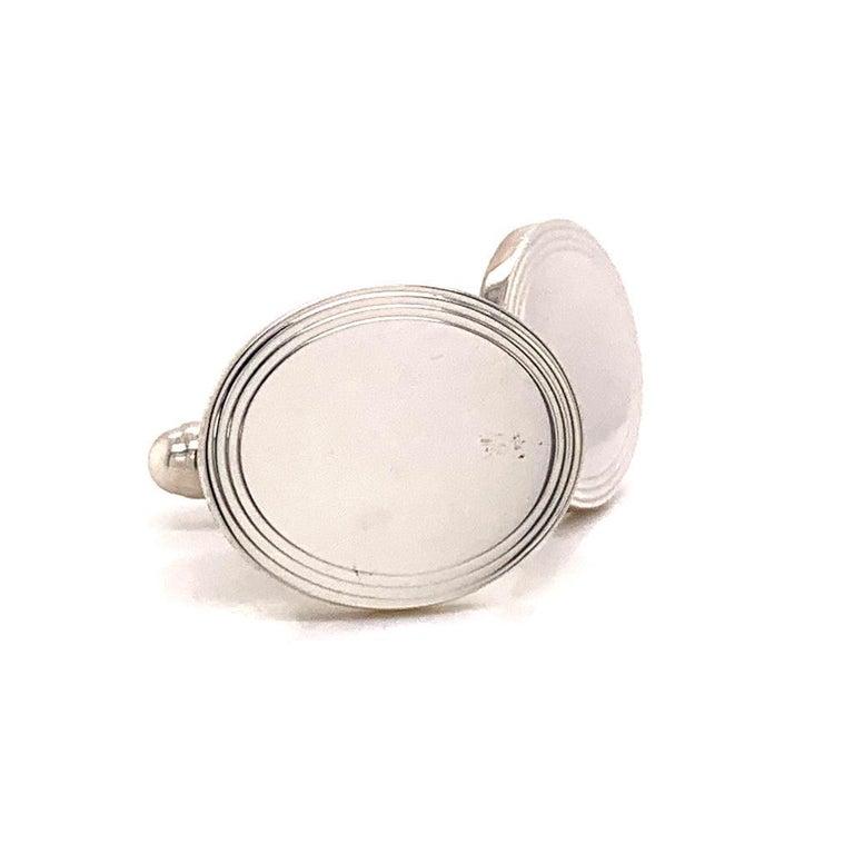 Sterling Silver Cufflinks by Tiffany & Co. 6.40 Grams TIF11 3