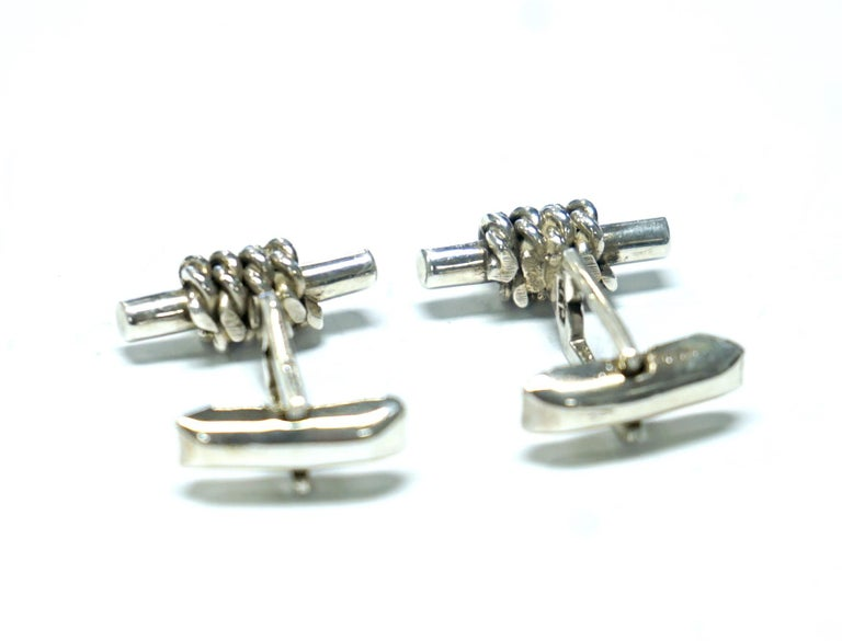 Classic sterling silver cufflinks - great for Fathers Day!