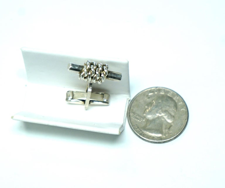 Sterling Silver Cufflinks In Good Condition For Sale In Dallas, TX