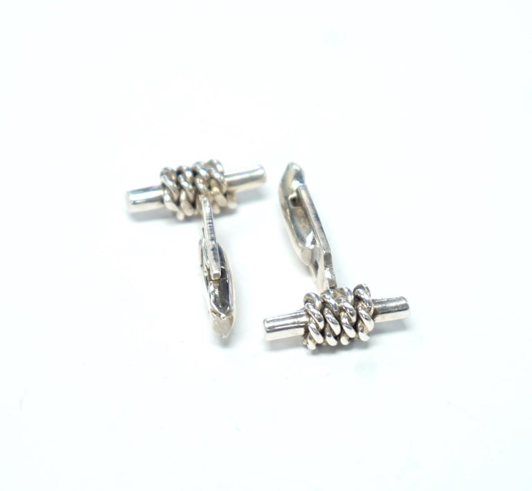 Sterling Silver Cufflinks For Sale 1