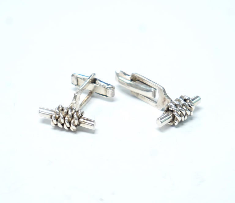 Sterling Silver Cufflinks For Sale 2