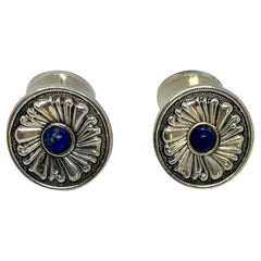 Sterling Silver Cufflinks with Lapis Lazuli by Gianmaria Buccellati