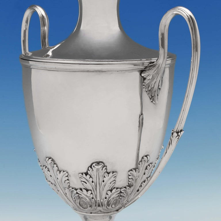 English The Duke Of Dorset's Sterling Silver Cup and Cover Hallmarked London 1773 For Sale