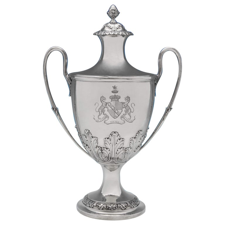 The Duke Of Dorset's Sterling Silver Cup and Cover Hallmarked London 1773 For Sale