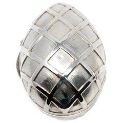 Sterling Silver Decorative Egg #2