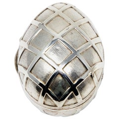 Sterling Silver Decorative Egg