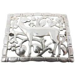 Sterling Silver Deer Brooch