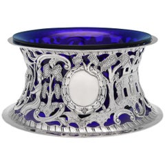 Irish Antique Sterling Silver Dish Ring by Mappin & Webb in 1919