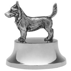 Sterling Silver Dog Paperweight