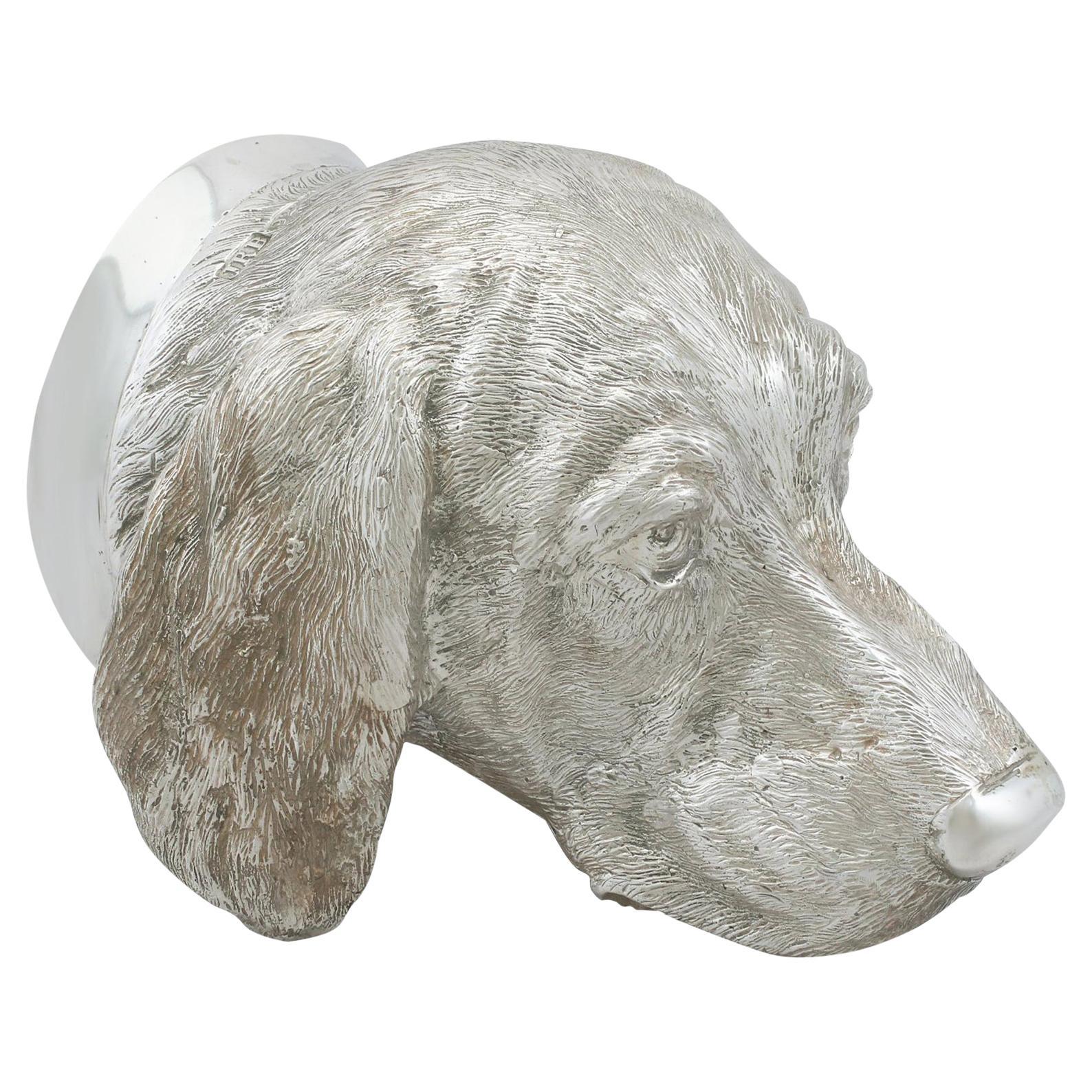 Sterling Silver 'Dog' Stirrup Cup