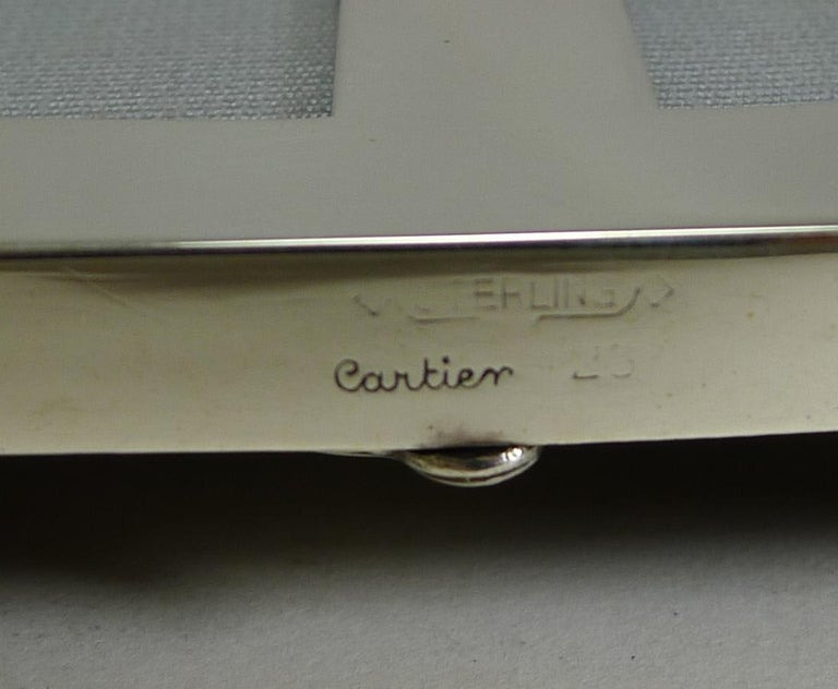 Sterling Silver Double Photograph Frame by Cartier, circa 1930s For Sale 1