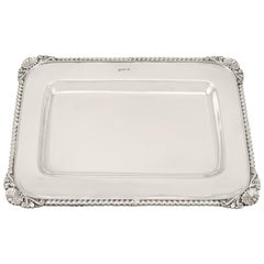 Sterling Silver Drinks Tray Antique Victorian, 1900